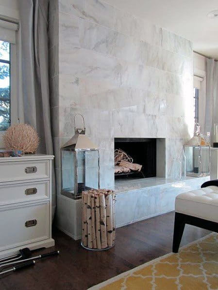 Traditional Home Fireplace Tile Ideas