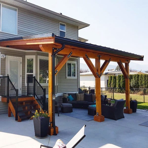 Top 60 Patio Roof Ideas - Covered Shelter Designs on Wood Patio Ideas id=62338