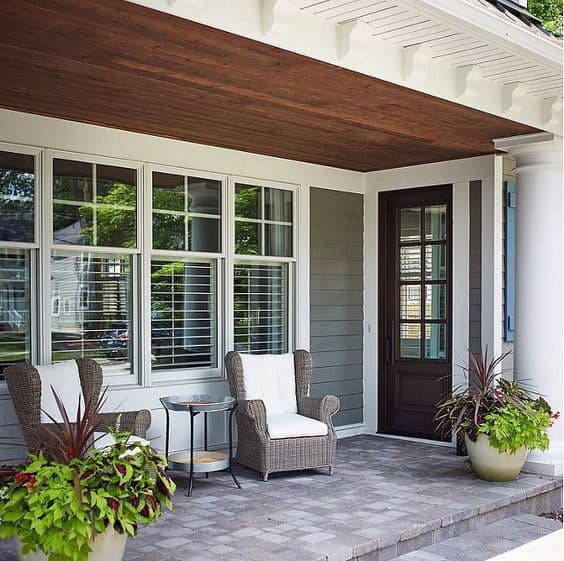 Traditional Homes Porch Ceiling Idea Inspiration