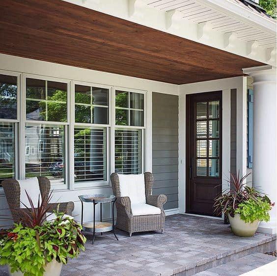 Traditional Homes Porch Ceiling Idea Inspiration