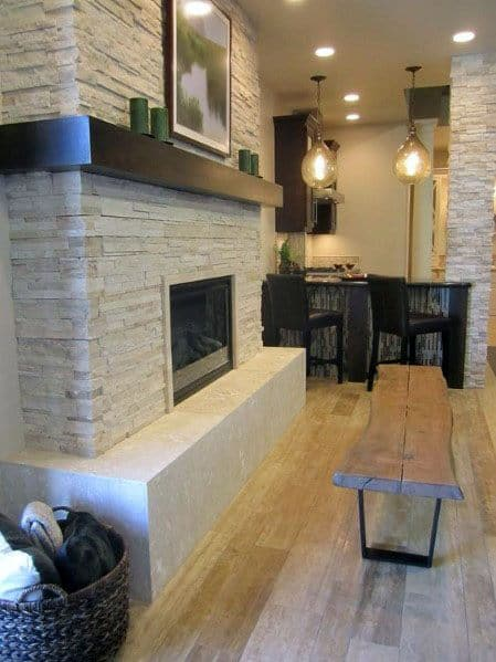 Traditional Idea Inspiration Stacked Stone Fireplace Designs