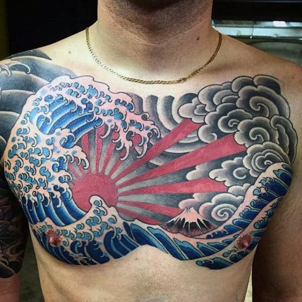 traditional-japanese-great-wave-with-rising-sun-mens-chest-tattoo