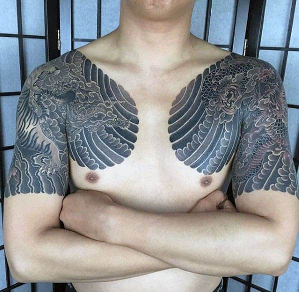 traditional-japanese-mens-half-sleeve-dragon-tattoo