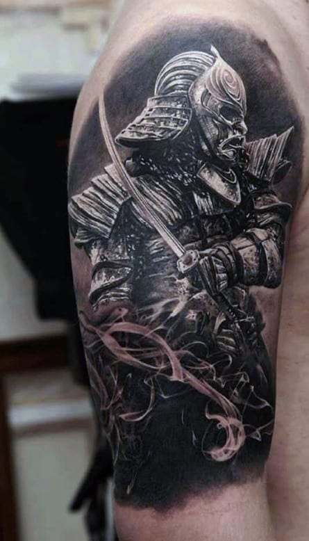 Traditional Japanese Samurai Men's Tattoo