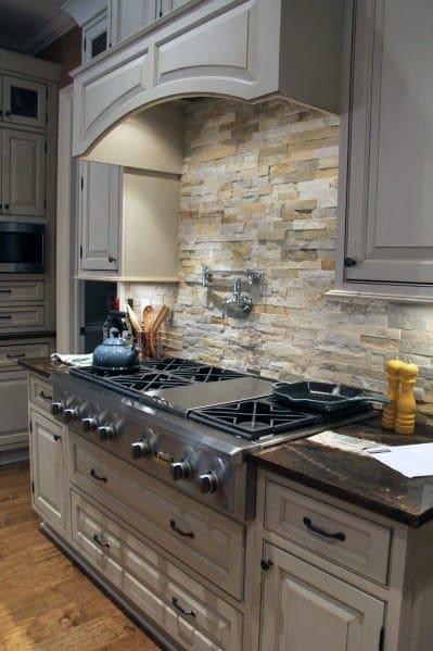 Traditional Kitchen Stone Backsplash Spectacular Ideas