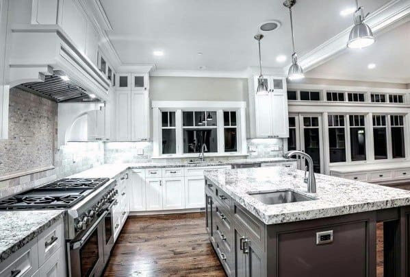 Traditional Kitchens Designs Stone Backsplash