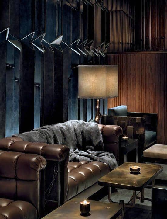Traditional Leather Man Cave Furniture Sofa