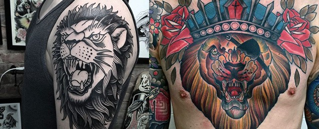 Traditional Lion Tattoo Designs For Men