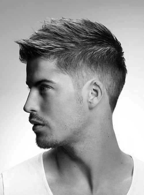 Traditional Male Faux Hawk Hair Look