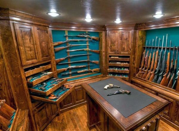 Traditional Masculine Wood Gun Room