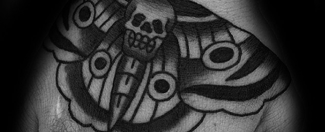 Traditional Moth Tattoo Designs For Men