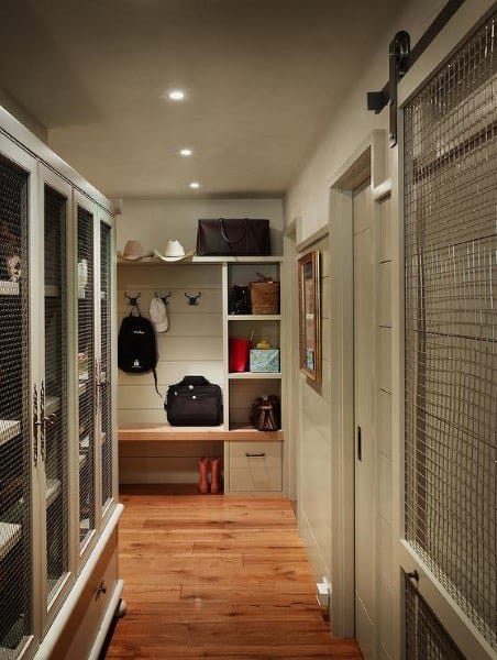 Traditional Mudroom Ideas With Hardwood Flooring