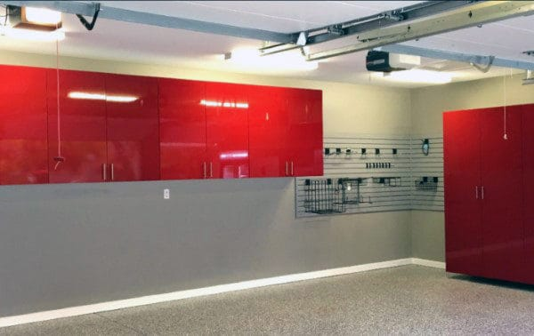 Traditional Off White Grey Painting Garage Walls