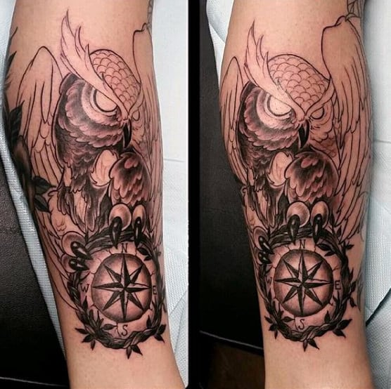 Traditional Owl Tattoo For Men