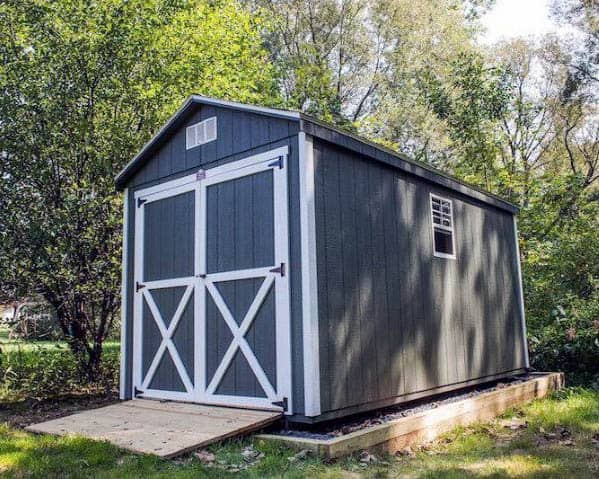 Traditional Painted Barn Backyard Shed Ideas