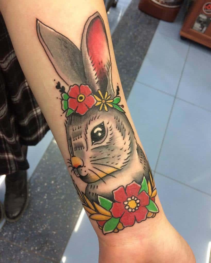 Traditional Rabbit Tattoos Artm Dvdv 95
