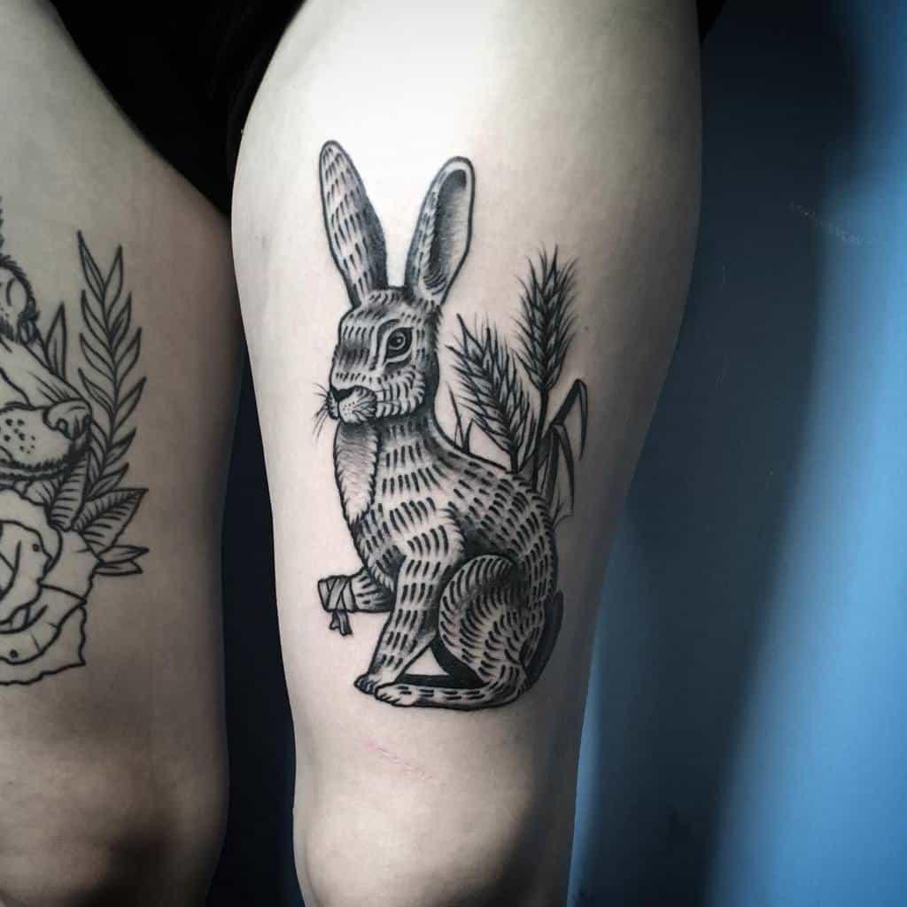 Traditional Rabbit Tattoos Cllhn Tattoo