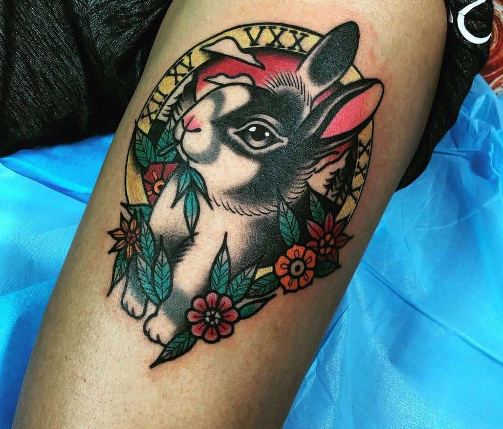 Traditional Rabbit Tattoos Neighborsta2