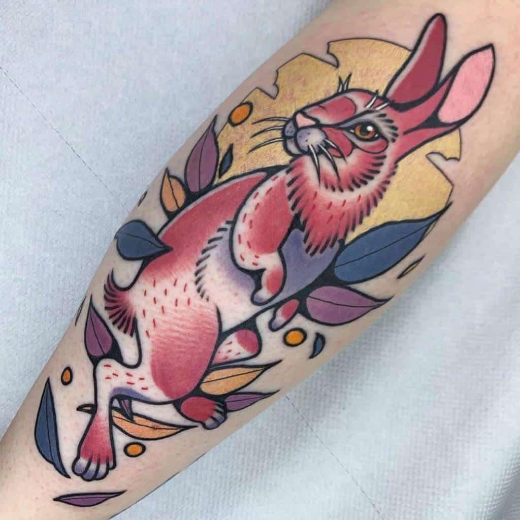 Traditional Rabbit Tattoos Tippingtattoo