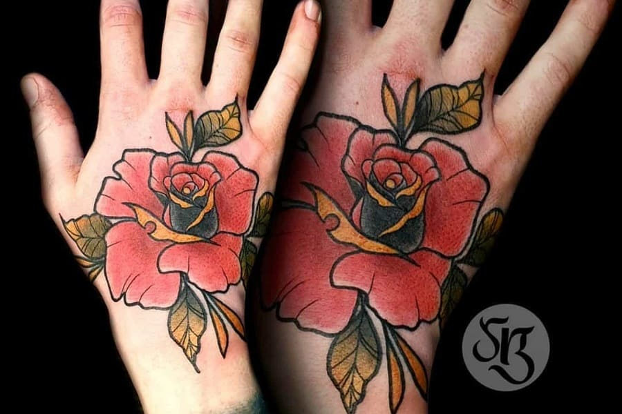 Top 101 Best Rose Hand Tattoo Ideas – [2020 Inspiration Guide]
