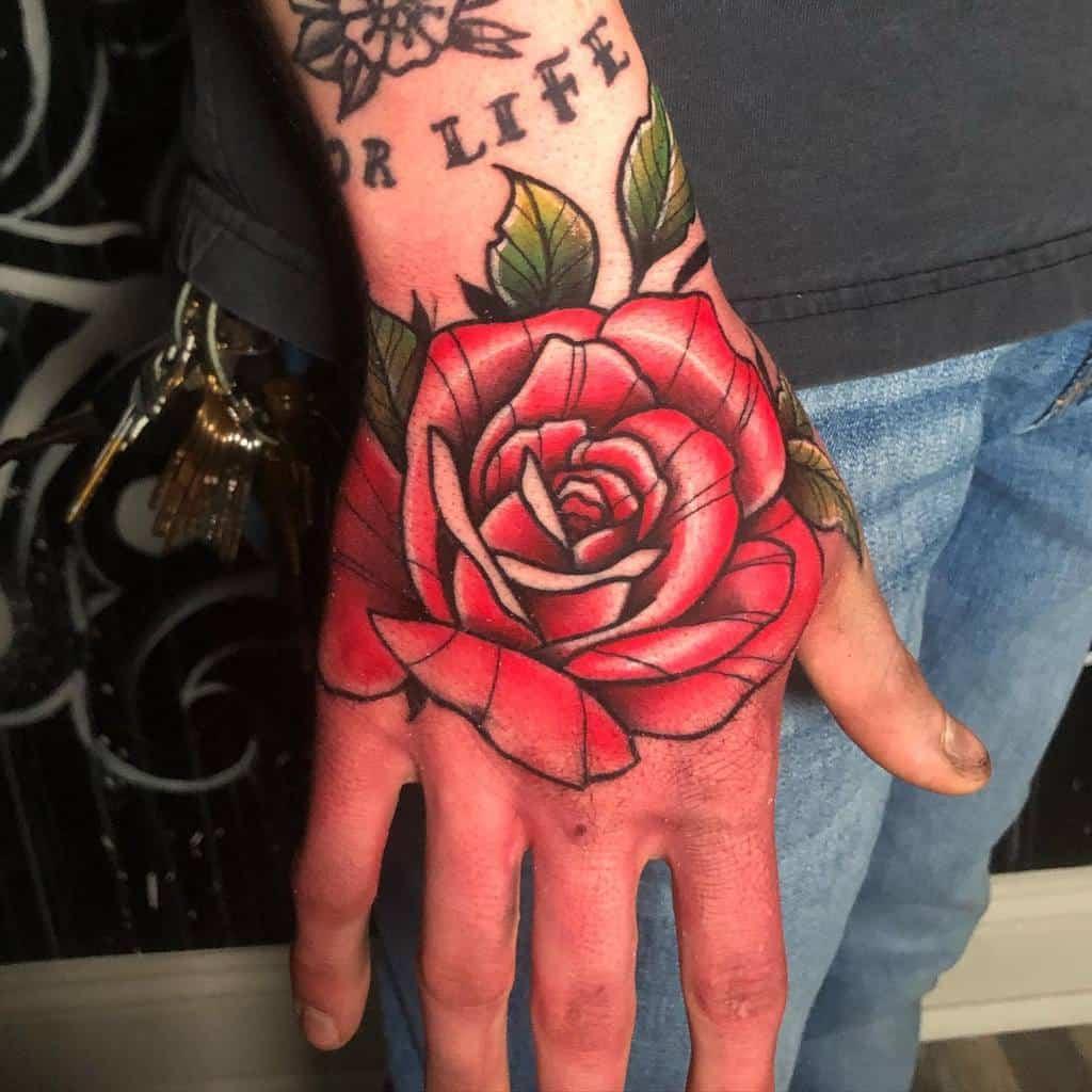 traditional rose hand tattoos tyett49