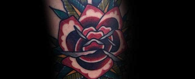 Traditional Rose Tattoo Designs For Men