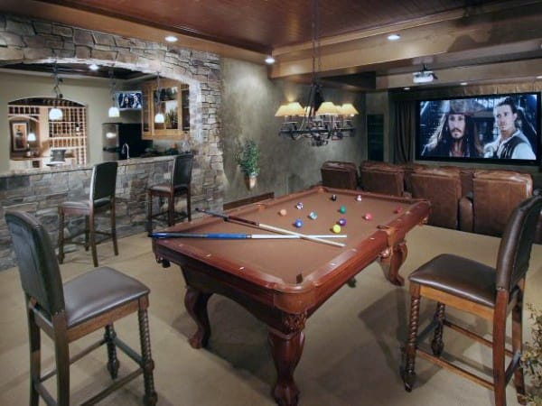 Traditional Rustic Basement Ideas