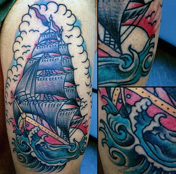 Traditional Sailor Male Tattoo