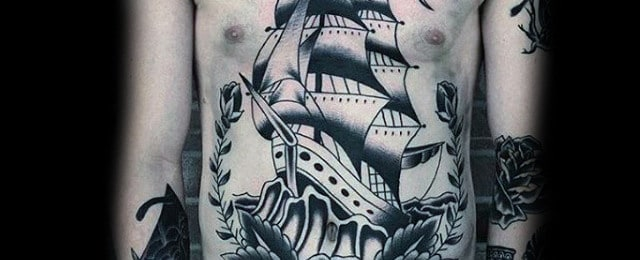 Traditional Ship Tattoo Designs For Men