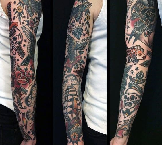 Traditional Sleeves Tattoos For Guys