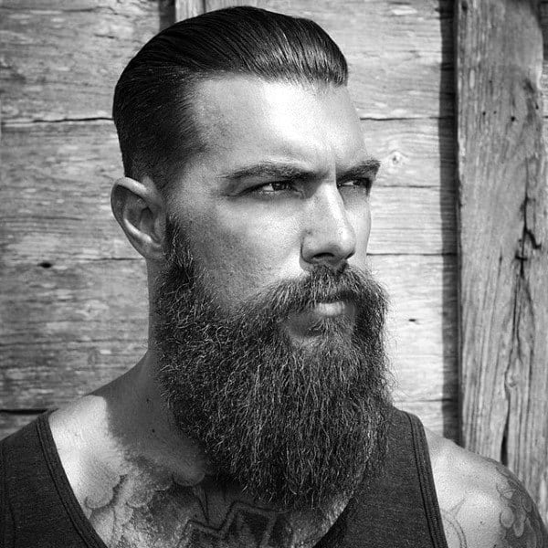 Traditional Slick Back Mens Hair