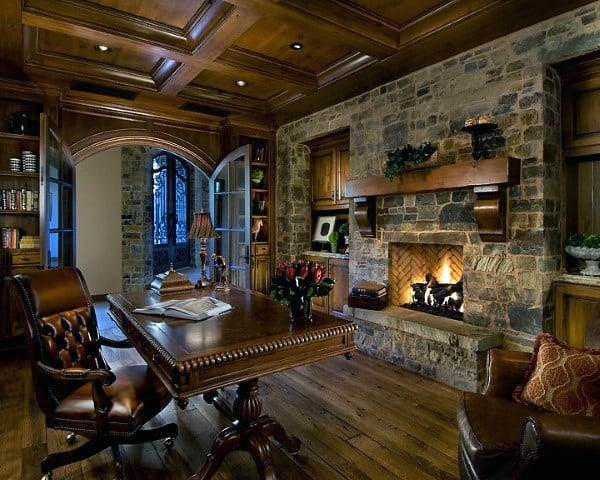 Traditional Stone Fireplace Design