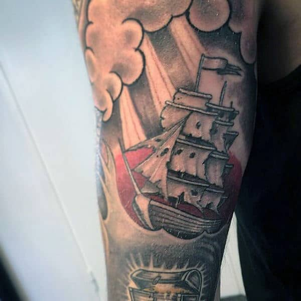Traditional Tattoo Ship Men