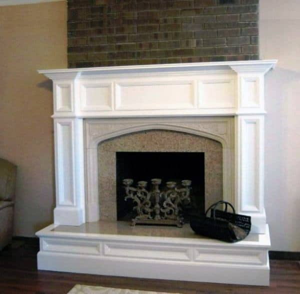 Traditional White Fireplace Mantel Design