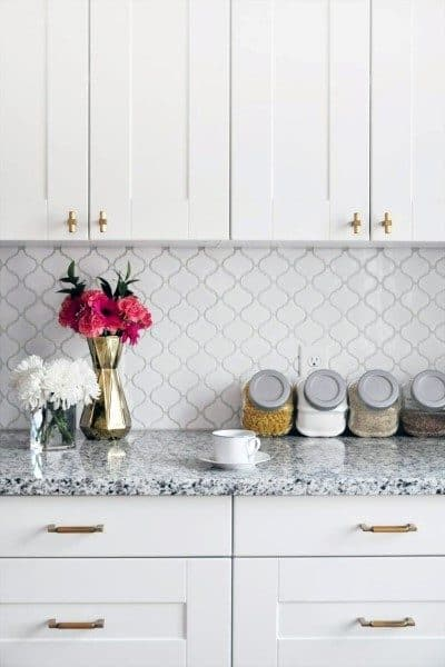 Traditional White Kitchen Backsplash Tile Ideas