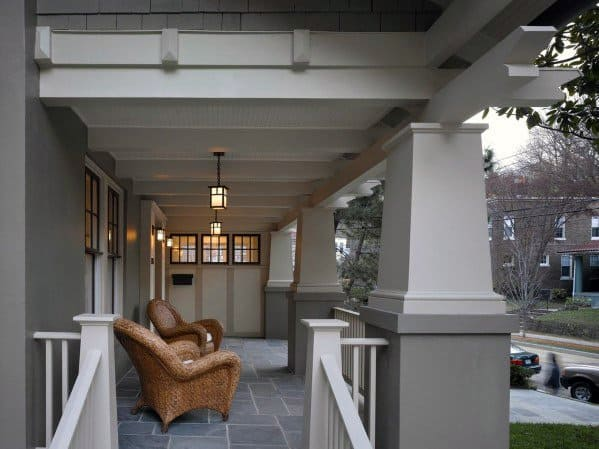 Traditional White Painted Designs Porch Ceiling