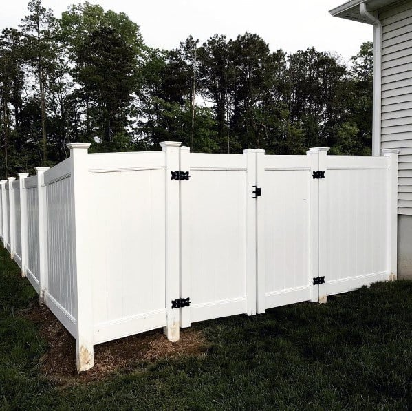 Traditional White Vinyl Ideas For Privacy Fence