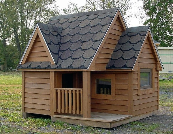 Traditional Wood Cool Dog Houses