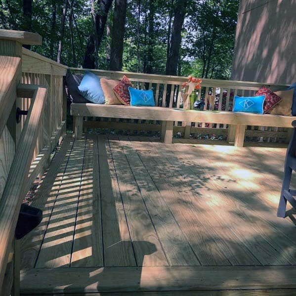 Traditional Wood Deck Bench Ideas