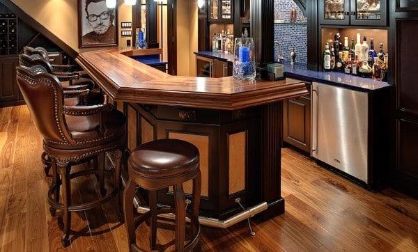 Traditional Wood Slab Bar Top Ideas