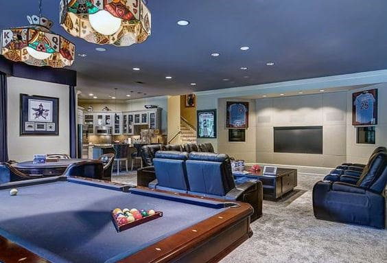Traditonal Finished Basement Designs For Males