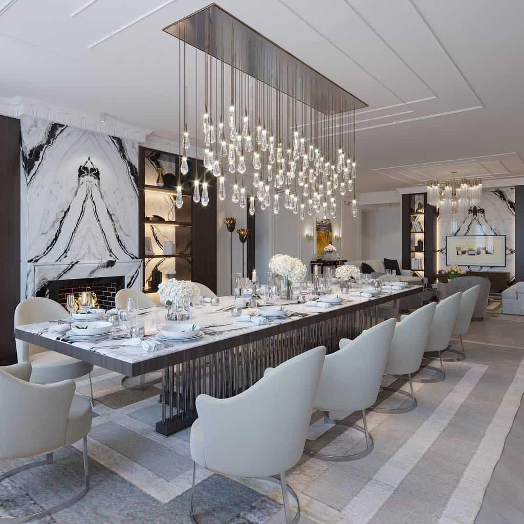 transitional dining room ideas azhdar.design