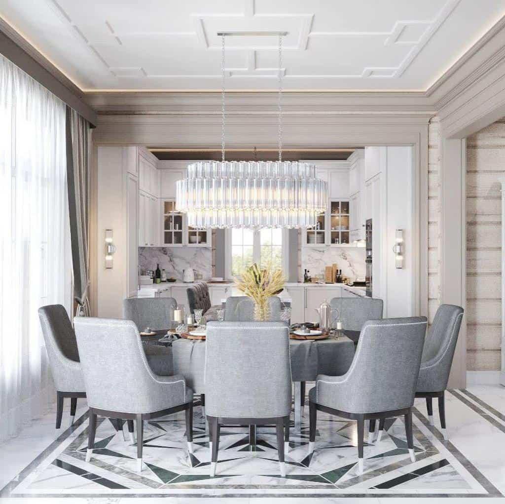 transitional dining room ideas projectors_design