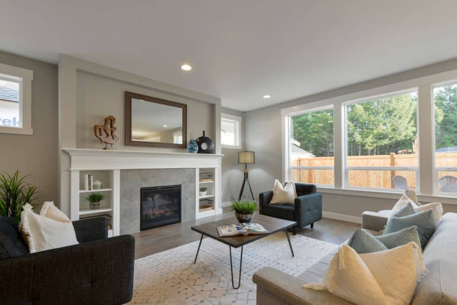 Transitional Family Room Ideas 21