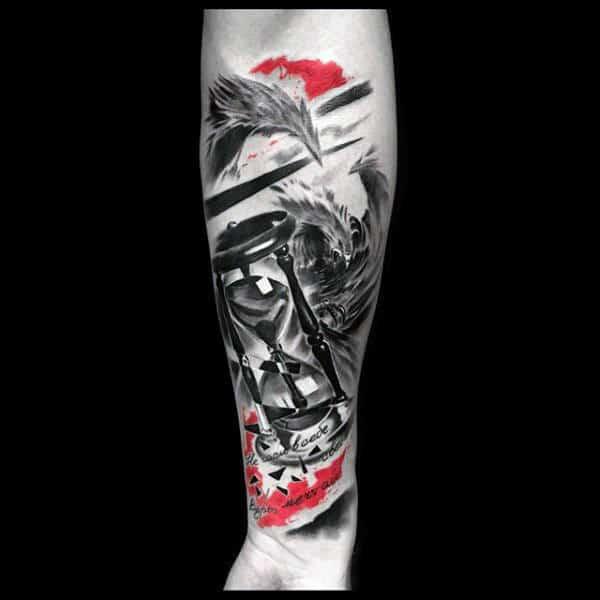 Trash Polka 3d Hourglass Guys Tattoos