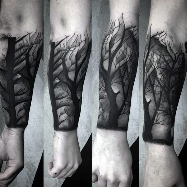 Tree Forearm Sleeve Insane Shaded Guys Tattoos