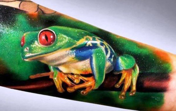 Tree Frog Guys Tattoo Designs Forearm Sleeve