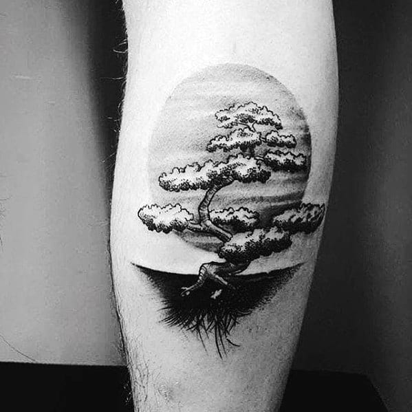 Tree Leg Mens Tattoos