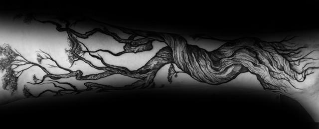 Tree Leg Tattoo Design Ideas For Men