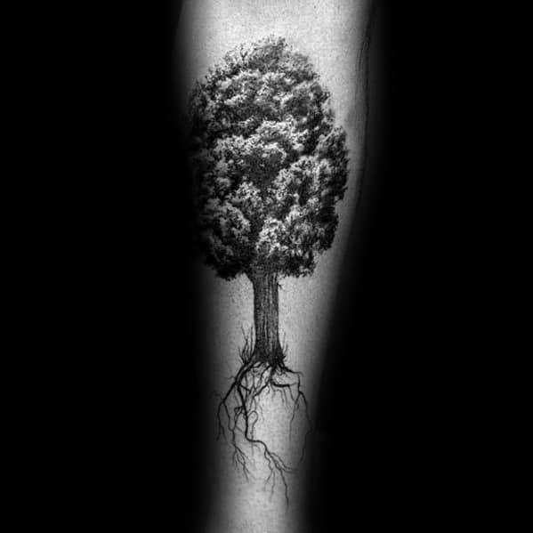 Tree Leg Tattoo Ideas For Men